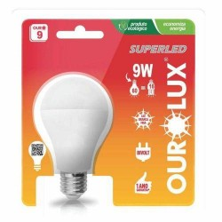 Lâmpada LED 9W luz branca 6500K E27 Ourolux