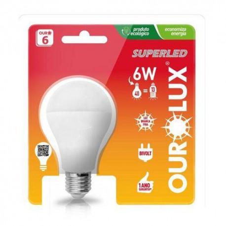 Lâmpada LED 6W luz branca 6500K E27 Ourolux