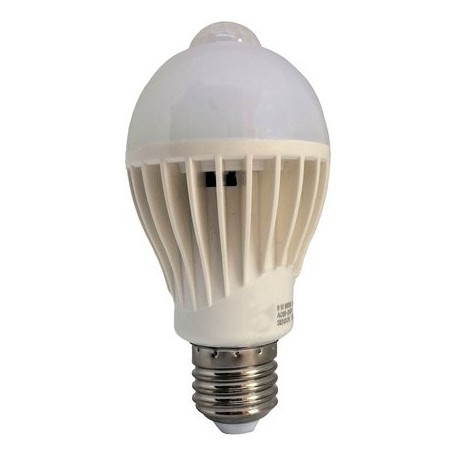 Lâmpada LED 5W Luz Branca com sensor de presença CTB