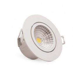 Spot LED 5W redondo embutir Luz Branca KIAN