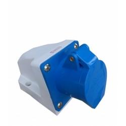 Tomada sobrepor 2P+T 16A 6H IP44 220V Azul Sibratec