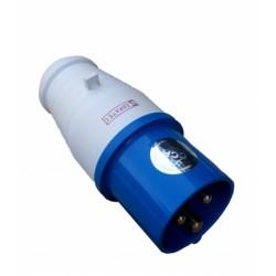 Plugue 2P+T 16A 6H 220V IP44 Azul Sibratec