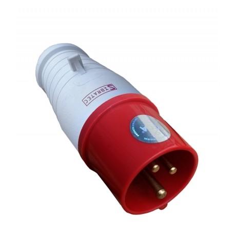 Plugue 3P+T 16A 6H 380V IP44 Vermelho Sibratec