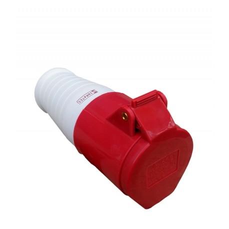 Acoplamento 3P+T 32A 6H IP44 380V Vermelho Sibratec